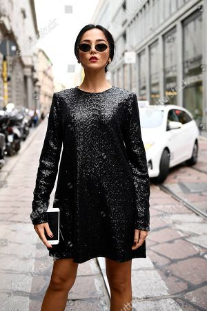 Editorial picture of Street style, Milan Fashion Week Spring Summer 2020, Milan, Italy - 18 Sep 2019