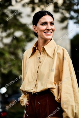 Editorial image of Alberta Ferretti show, Arrivals, Spring Summer 2020, Milan Fashion Week, Italy - 18 Sep 2019