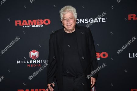 "Avi Lerner attends a special screening of ""Rambo: Last Blood"" at AMC Lincoln Square, in New York"