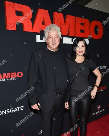 "Avi Lerner, Christa Campbell. Producers Avi Lerner, left, and Christa Campbell attend a special screening of ""Rambo: Last Blood"" at AMC Lincoln Square, in New York"