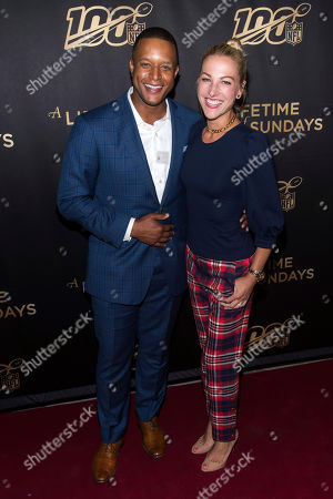 "Lindsay Czarniak, Craig Melvin. Craig Melvin and Lindsay Czarniak attend a screening of ""A Lifetime of Sundays"" at The Paley Center for Media, in New York"
