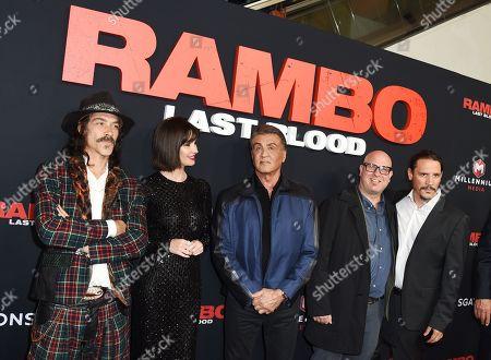 Oscar Jaenada, Paz Vega, Sylvester Stallone, Adrian Grunberg, and Sergio Peris-Mencheta