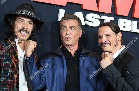 Oscar Jaenada, Sylvester Stallone and Sergio Peris-Mencheta