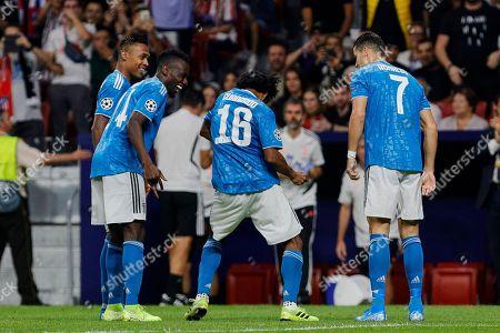 Blaise Matuidi, Juan Cuadrado and Cristiano Ronaldo