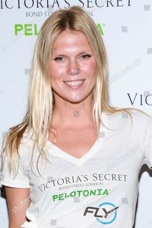 """Alexandra Richards participates in Victoria's Secret """"Angel Cycle"""" charity event at Flywheel, in New York"""