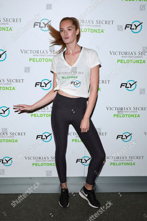 """Alexina Graham participates in Victoria's Secret """"Angel Cycle"""" charity event at Flywheel, in New York"""