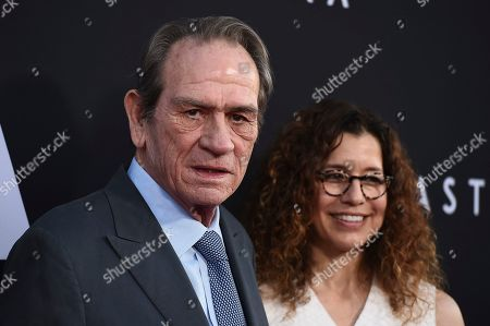 "Tommy Lee Jones, Dawn Laurel-Jones. Tommy Lee Jones and Dawn Laurel-Jones arrive at the special screening of ""Ad Astra"" at ArcLight Cinemas, in Los Angeles"