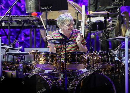Zak Starkey with The Who performs during the Moving On! Tour at State Farm Arena, in Atlanta