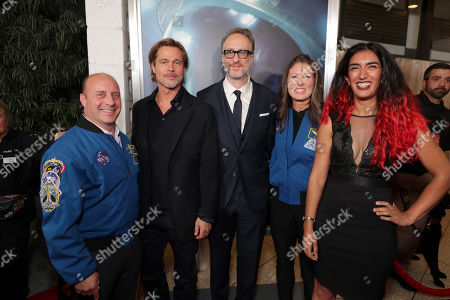 Garrett Reisman, Former NASA Astronaut, Brad Pitt, James Gray, Director/Writer/Producer, Tracy Caldwell Dyson, NASA Astronaut, Farah Alibay, NASA JPL Systems Engineer,