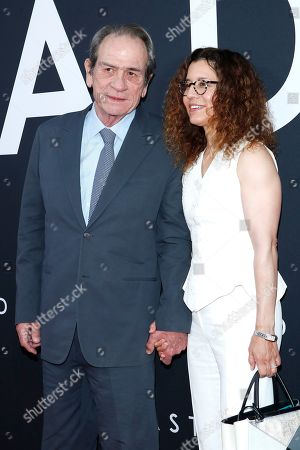 Tommy Lee Jones (L) and his wife Dawn Laurel-Jones (R) arrive for the premiere of the film 'Ad Astra' at the Cinema Dome in Hollywood, Los Angeles, California, USA, 18 September 2019. The movie opens in the US on 20 September 2019.