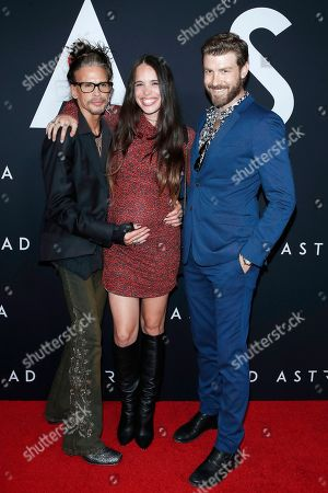 Steven Tyler, Chelsea Tyler, Jon Foster arriving for the premiere of Ad Astra at the Cinema Dome in Hollywood, Los Angeles, California, USA 18 September 2019. The movie opens in the US 20 September 2019.