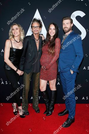 Aimee Preston, Steven Tyler, Chelsea Tyler, Jon Foster arriving for the premiere of Ad Astra at the Cinema Dome in Hollywood, Los Angeles, California, USA 18 September 2019. The movie opens in the US 20 September 2019.
