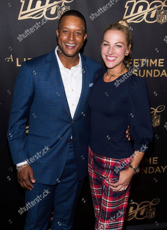 "Stock Picture of Craig Melvin, Lindsay Czarniak. Craig Melvin and Lindsay Czarniak attend a screening of ""A Lifetime of Sundays"" at The Paley Center for Media, in New York"