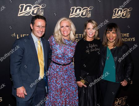 """Janice Dean, Brian Kilmeade, Arthel Neville, Jane Skinner Goodell. Brian Kilmeade, left, Janice Dean, Jane Skinner Goodell and Arthel Neville attend a screening of """"A Lifetime of Sundays"""" at The Paley Center for Media, in New York"""