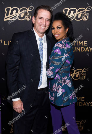 "Harris Faulkner, Tony Berlin. Tony Berlin and Harris Faulkner attend a screening of ""A Lifetime of Sundays"" at The Paley Center for Media, in New York"