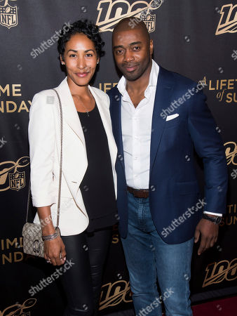 "Curtis Martin, Carolina Williams. Carolina Williams and Curtis Martin attend a screening of ""A Lifetime of Sundays"" at The Paley Center for Media, in New York"