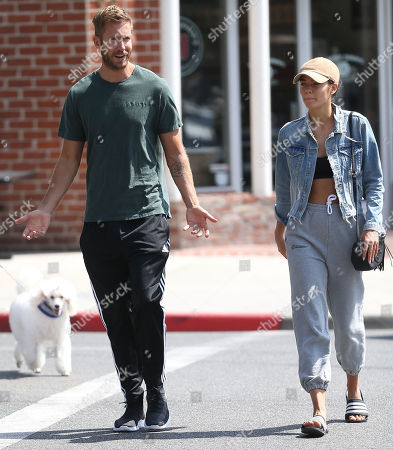 Stock Image of Calvin Harris and girlfriend Aarika Wolf