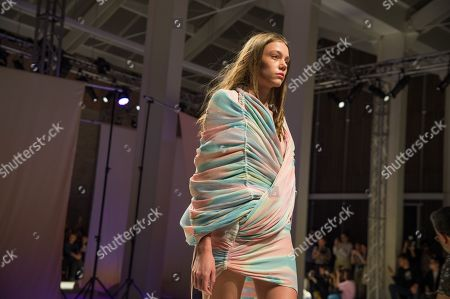 Stock Image of Model on the catwalk