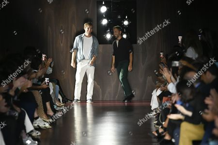 Peter Pilotto and Christopher de Vos on the catwalk