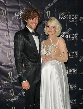 Stock Image of Max Rogers and Kimberly Wyatt