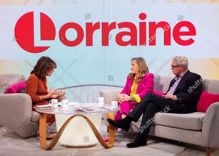 Lorraine Kelly, Stephanie Parker and Dominic Parker