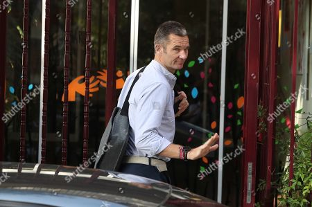Stock Photo of Inaki Urdangarin, husband of Spanish Princess Cristina, sister of Spain's King Felipe VI, arrives to the Home Don Orione to attend his first day of volunteering with people with intellectual disabilities in Pozuelo de Alarcon, Madrid, Spain, 19 September 2019. Urdangarin is out of Brieva prison for the first time after he entered 18 June 2018 to serve a five years and 10 months sentence for his involvement in the Noos Case, as he was found guilty for several charges of corruption and tax offenses. The women's Brieva prison counts with a small module for men, currently empty, where Urdangarin is on his own.