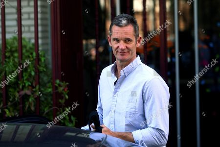 Stock Picture of Inaki Urdangarin, husband of Spanish Princess Cristina who is the sister of Spain's King Felipe VI, leaves the Home Don Orione after his first day of volunteering with people with intellectual disabilities in Pozuelo de Alarcon, Madrid, Spain, 19 September 2019. Urdangarin is out of Brieva prison for the first time after he entered it 18 June 2018 to serve a five years and 10 months sentence for his involvement in the Noos Case, as he was found guilty for several charges of corruption and tax offenses. The women's Brieva prison counts with a small module for men, currently empty, where Urdangarin is on his own.