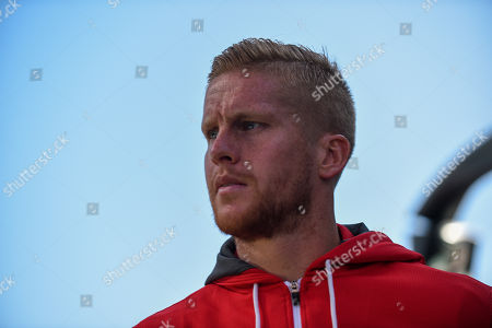 21st September 2019, DW Stadium, Wigan, England; Sky Bet Championship Football, Wigan Athletic vs Charlton Athletic ; Ben Amos (13) of Charlton Athletic arrives at the ground Credit: Richard Long/News Images English Football League images are subject to DataCo Licence
