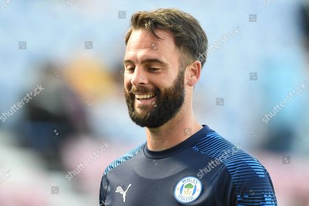 21st September 2019, DW Stadium, Wigan, England; Sky Bet Championship Football, Wigan Athletic vs Charlton Athletic ; Danny Fox (6) of Wigan Athletic during the pre match warm up.
