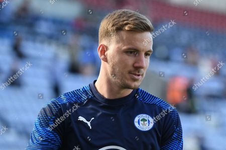Stock Picture of 21st September 2019, DW Stadium, Wigan, England; Sky Bet Championship Football, Wigan Athletic vs Charlton Athletic ; Lee Evans (8) of Wigan Athletic during the pre match warm up.