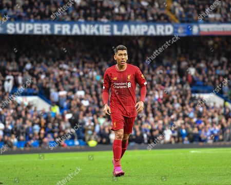 22nd September 2019, Stamford Bridge, London, Premier League Football , Chelsea vs Liverpool ; Roberto Firmino (9) of Liverpool  during the game Credit: David John/News Images English Football League images are subject to DataCo Licence