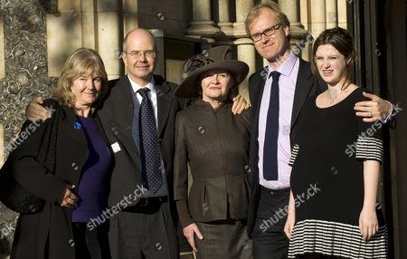 Sally Silverman, Jeremy Mortimer, John Mortimer's widow Penelope Gollop, Ross Bentley and Rosie Mortimer