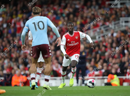 Alex Iwobi (A) at the Arsenal v Aston Villa English Premier League match, at the Emirates Stadium, London, UK on September 22, 2019. **Editorial use only, license required for commercial use. No use in betting, games or a single club/league/player publications**