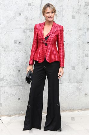 Italian actress Serena Autieri poses before the Emporio Armani show during the Milan Fashion Week, in Milan, Italy, 19 September 2019. The Spring-Summer 2020 Women's collections are presented at the Milano Moda Donna from 17 to 23 September 2019.