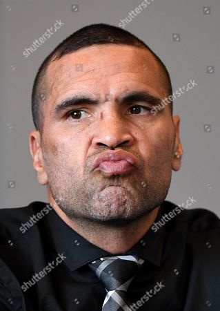 Australian boxer Anthony 'The Man' Mundine looks on during a press conference at CBus Super Stadium on the Gold Coast, Queensland, Australia, 18 September 2019 (issued 19 Septembe 2019). Mundine will fight fellow Australian 'The Gunslinger' John Wayne Parr in a 'Worlds Collide' fight which will take place on 30 November on the Gold Coast.