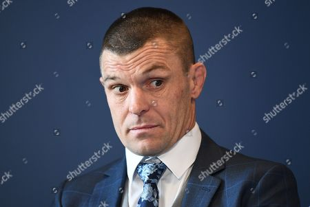 Australian boxer John Wayne 'The Gunslinger' Parr reacts during a press conference at CBus Super Stadium on the Gold Coast, Queensland, Australia, 18 September 2019 (issued 19 September 2019). Parr will fight fellow Australian  Anthony 'The Man' Mundine in a 'Worlds Collide' fight which will take place on 30 November on the Gold Coast.