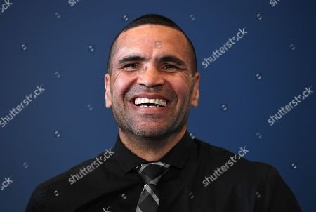 Australian boxer Anthony 'The Man' Mundine smiles during a press conference at CBus Super Stadium on the Gold Coast, Queensland, Australia, 18 September 2019 (issued 19 Septembe 2019). Mundine will fight fellow Australian 'The Gunslinger' John Wayne Parr in a 'Worlds Collide' fight which will take place on 30 November on the Gold Coast.