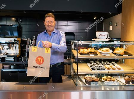 Editorial photo of McDonald's CEO Steve Easterbrook Celebrates McDelivery Night In, Chicago, USA - 11 Sep 2019