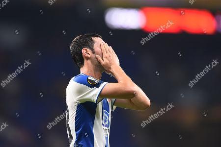 Esteban Granero of RCD Espanyol reacts