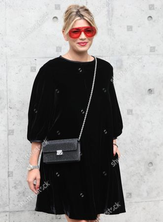 Italian singer Emma Marrone poses before the Emporio Armani show during the Milan Fashion Week, in Milan, Italy, 19 September 2019. The Spring-Summer 2020 Women's collections are presented at the Milano Moda Donna from 17 to 23 September 2019.