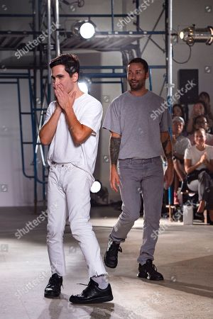 Jack McCollough and Lazaro Hernandez on the catwalk