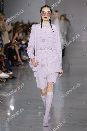 Fei Fei Sun on the catwalk
