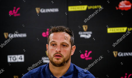 Ospreys' Dan Evans speaking at Cardiff City Stadium, the site of the 2020 Guinness PRO14 Final which takes place on June 20