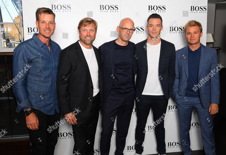 Stock Picture of Henrik Stenson, Alex Thomson, Mark Langer, André Lotterer and Nico Rosberg