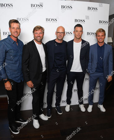 Stock Photo of Henrik Stenson, Alex Thomson, Mark Langer, André Lotterer and Nico Rosberg