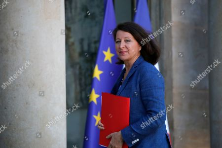 French Health Minister Agnes Buzyn arrives for a meeting with French President Emmanuel Macron at the Elysee Palace in Paris