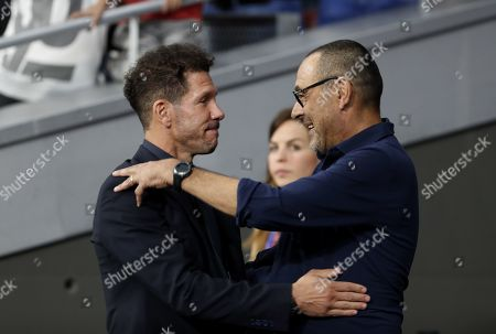 Atletico Madrid manager Diego Simeone and Juventus manager Maurizio Sarri