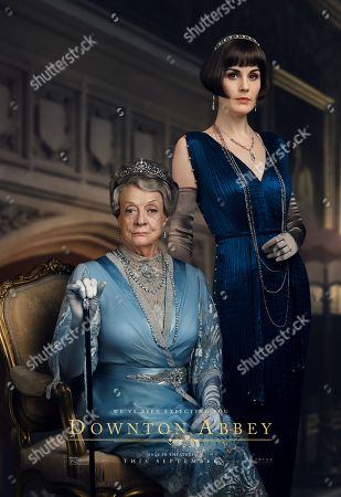 Downton Abbey (2019) Poster Art. Maggie Smith as Violet Crawley and Michelle Dockery as Lady Mary Talbot