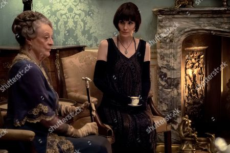 Stock Photo of Dame Maggie Smith as The Dowager Countess of Grantham and Michelle Dockery as Lady Mary Talbot