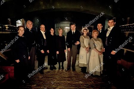 Phyllis Logan as Mrs. Hughes, Jim Carter as Mr. Carson, Kevin Doyle as Mr. Molesley, Raquel Cassidy as Miss Baxter, Joanne Froggatt as Anna Bates, Brendan Coyle as Mr. Bates, Sophie McShera as Daisy, Lesley Nicol as Mrs. Patmore, Rob James-Collier as Thomas Barrow and Michael C. Fox as Andy Parker